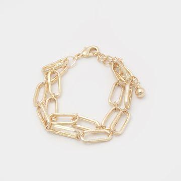 BELLEZIYA | Belleziya Gold Finish Chain Bracelet for all occassions for Women & girls