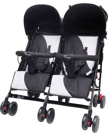 Mothercare | R For Rabbit Ginny And Johnny Twin Strollers & Prams Grey