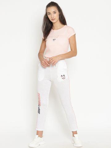 METTLE   Women WHITE MELANGE Trackpants