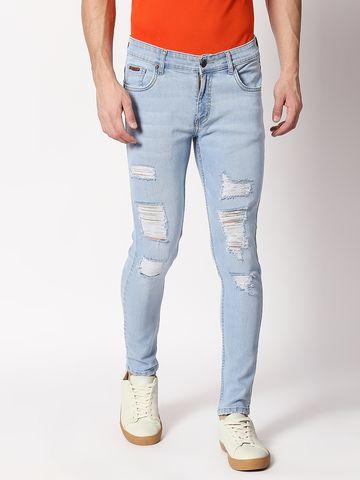 Bolts & Barrels | Bolts and Barrels Men Blue Mid Rise Full length Slim Fit Jeans