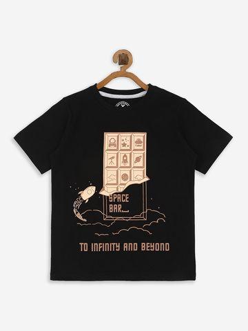 Bolts & Barrels | Bolts & Barrels Presents Black Printed T-shirt,  round neck and short sleeves