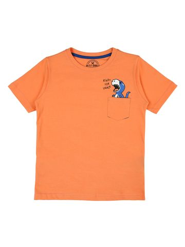 Bolts & Barrels | Bolts & Barrels Presents Coral Printed T-shirt,round neck and short sleeves