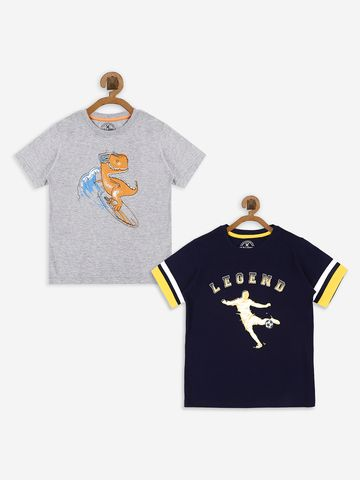 Bolts & Barrels | Bolts & Barrels Presents Pack of 2 Multicoloured printed T-shirt,  round neck and short sleeves