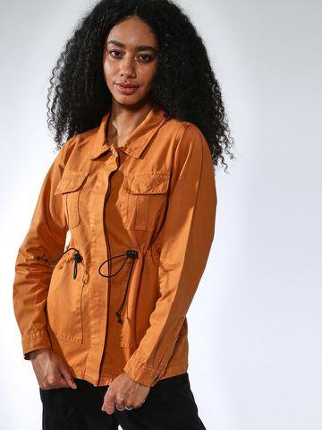 Blue Saint   Blue Saint Women's Brown Regular Fit Jackets