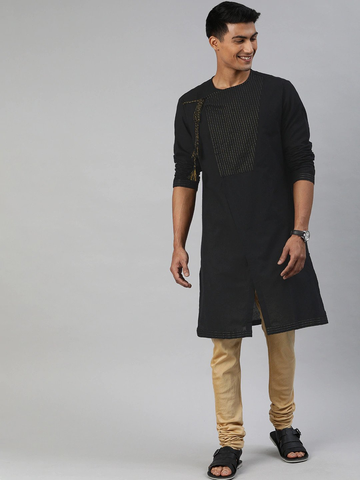 The Bear House | Men's Black Angrakha