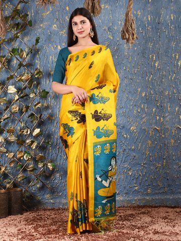 SATIMA   Printed khadi silk saree