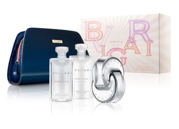 Bvlgari | Omnia Crystalline Gift Set (Eau de Toilette65 ML and SG75 ML and BL75 ML and Pouch)(45936)