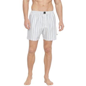 La Intimo | Striped Fashion Boxers (Light Blue & White)