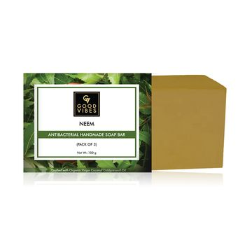 Good Vibes | Good Vibes Neem Anti-bacterial Handmade Soap Bar (Pack of 3) - 100g x 3
