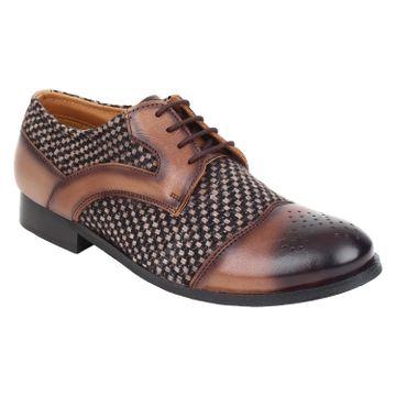 Lujo | Lujo Entreaty handmade Brogue Shoes - Brown