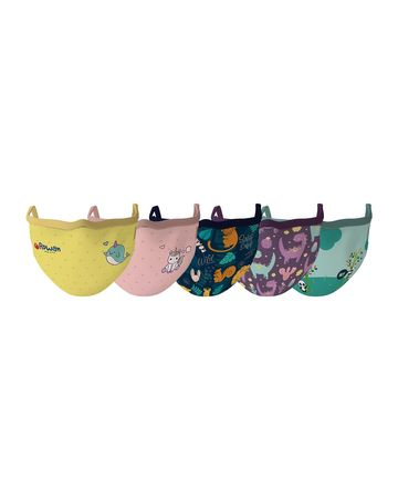 Mothercare | Unisex Animal Mystical World Face Mask -pack of 5-Multicolor