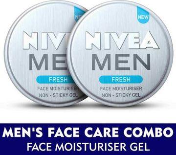 Nivea | NIVEA MEN Grooming Kit, Fresh Face Moisturizer Gel 75 ml (Pack of 2)  (150 ml)