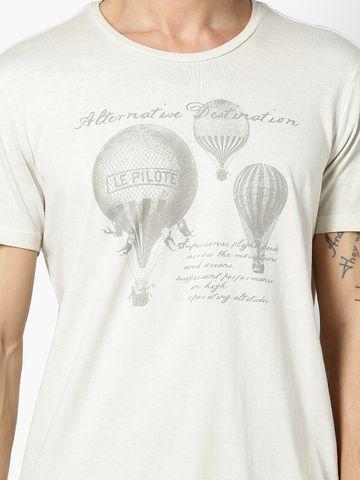 celio   celio Beige T-Shirt