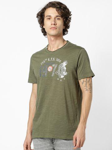 celio   celio Kaki T-Shirt