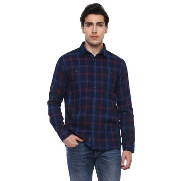 celio | Regular Fit  Double Cloth Casual Shirts