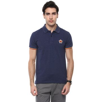 celio | Solid  Blue Polo T-Shirt