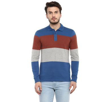 celio | Colorblocked  Blue Polo T-Shirt