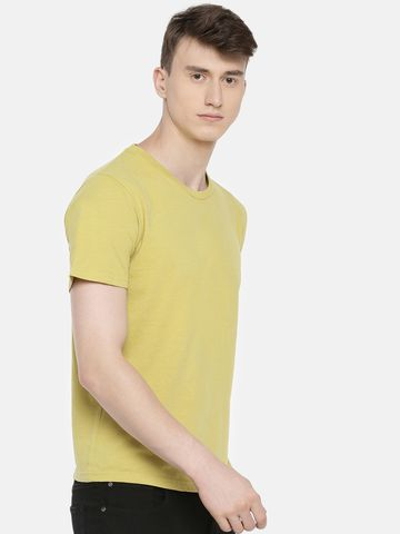 celio | 100% Cotton Olive Printed T-Shirt
