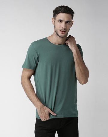 celio | 100% Cotton Green Printed T-Shirt