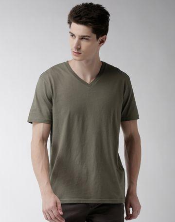 celio | Khaki Solid T-Shirt