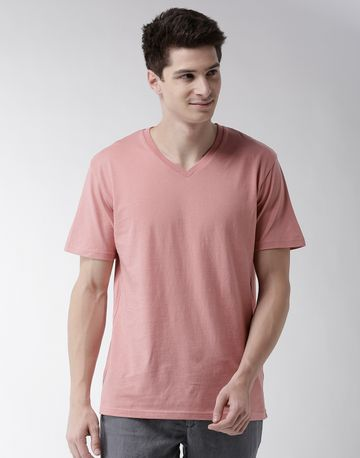 celio | Pink Solid T-Shirt
