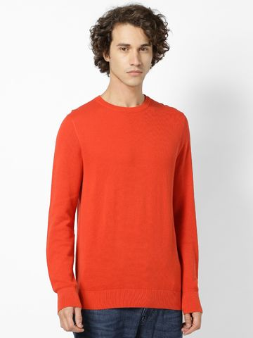 celio | Orange Solid Sweater