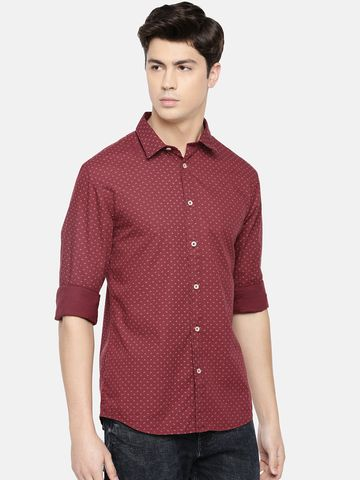 celio | Magic Wash Slim Fit Burgundy Shirt