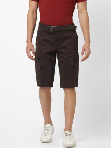 celio | Straight Fit Dark brown Cargo Shorts