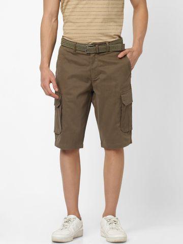 celio | Straight Fit Kaki Cargo Shorts
