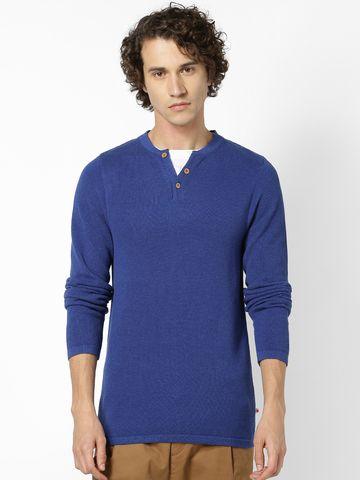 celio   Blue Sweaters
