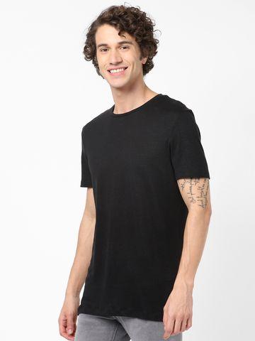celio | Black Linen T-Shirts