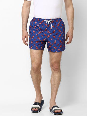 celio | Blue Printed Swim Shorts