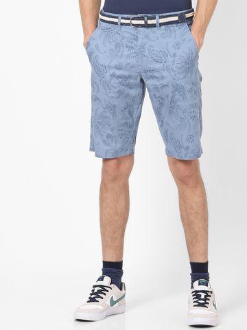 celio | Printed Light Blue Shorts