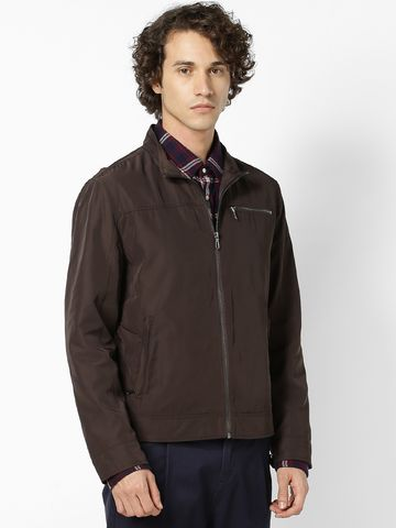 celio | Dark Brown Front Open Jackets