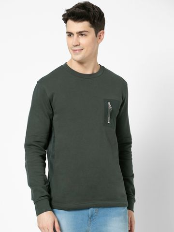 celio | 100% Cotton straight Fit Blue Sweatshirt