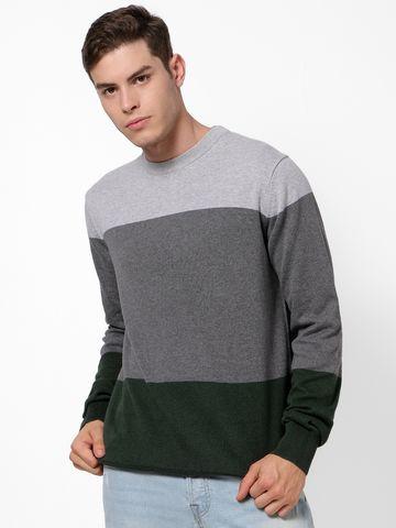 celio   Dark Green Sweaters