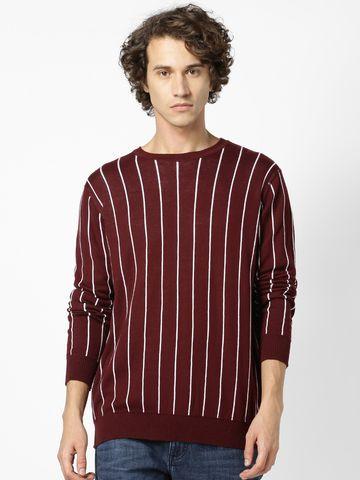 celio   Burgundy Sweaters