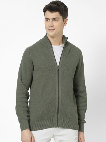 celio | 100% Cotton Regular fit high neck Sweatshirt