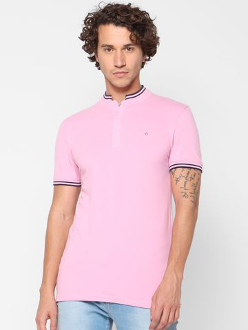 celio   Slim Fit Pink Polo T-Shirt