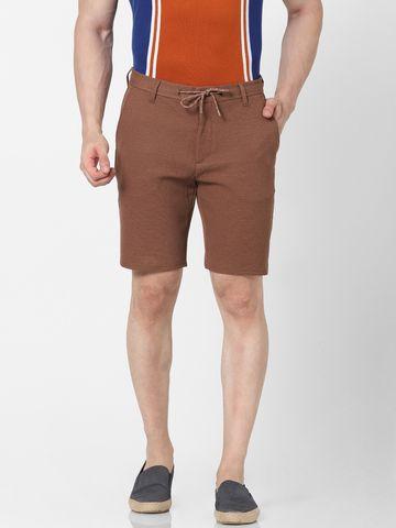 celio | Knitted Regular Fit Caramel Short