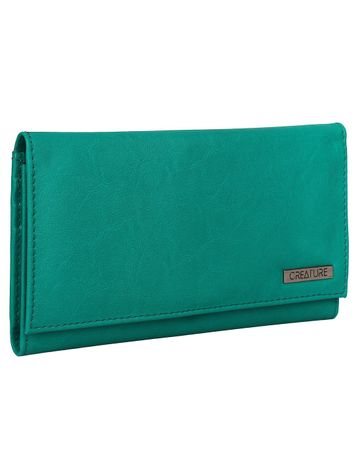 CREATURE | CREATURE Turquoise Blue Stylish PU Clutch for Women