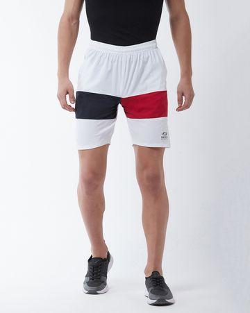 Masch Sports | Masch Sports Men's Gym Shorts Regular Fit Polyester (MSSH-0619-CS-FMP2CLR-WNBR-S_White_S)