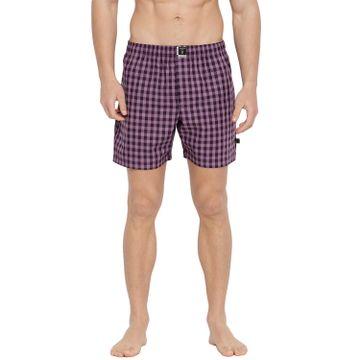 La Intimo | The Class Packer Boxers (Black & Purple checks)