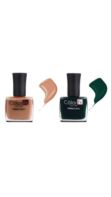 Color Fx | Color Fx Nail Enamel Perfect Stay - Basic Collection Pack of 2
