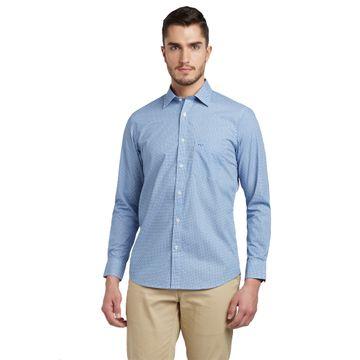 ColorPlus   ColorPlus Printed Blue Slim Fit Shirts