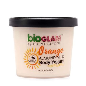 Cosmetofood | Cosmetofood Bioglam Organic Orange Body Yogurt with SPF 20, 200 mL