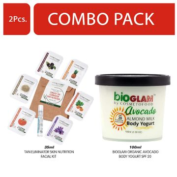 Cosmetofood | Cosmetofood Bioglam Organic Avocado Body Yogurt SPF 20 With Tomato Facial Kit, 135 mL