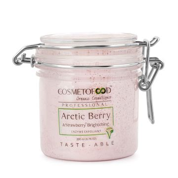 Cosmetofood | aryanveda Cosmetofood Professional Arctic Berry & Strawberry Brightening Enzyme Exfoliant Face Scrub, 200ml