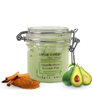Cosmetofood | Cosmetofood Professional Cinnamon Infused Avocado Pulp Rejuvenating Face Mask For Men And Women, 200ml