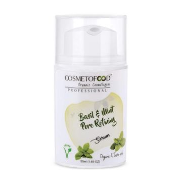 Cosmetofood | Cosmetofood Professional Basil & Mint Pore Refining Face Serum, 50ml